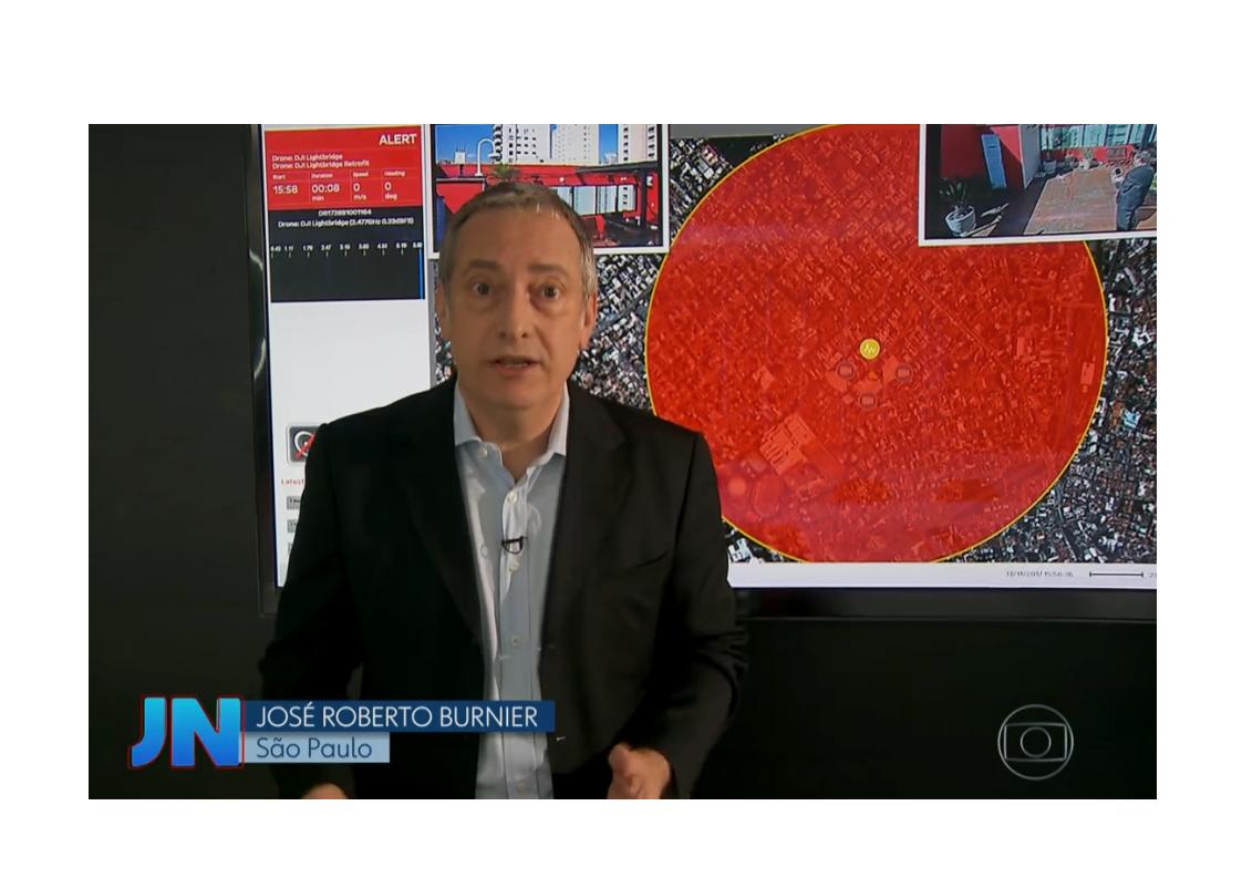 TechShield  no Jornal Nacional : Radares de aeroportos não detectam drones, segundo Aeronáutica